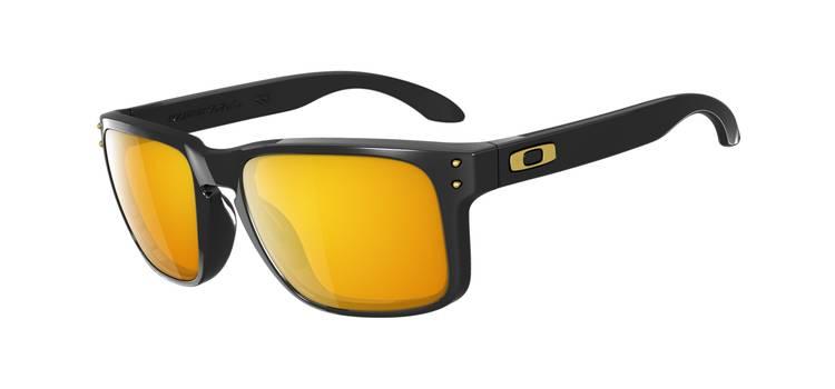 Gafas de Sol Oakley 9102 HOLBROOK 08 Negro Brillo - S Blanco 24K (Gold) Iridium