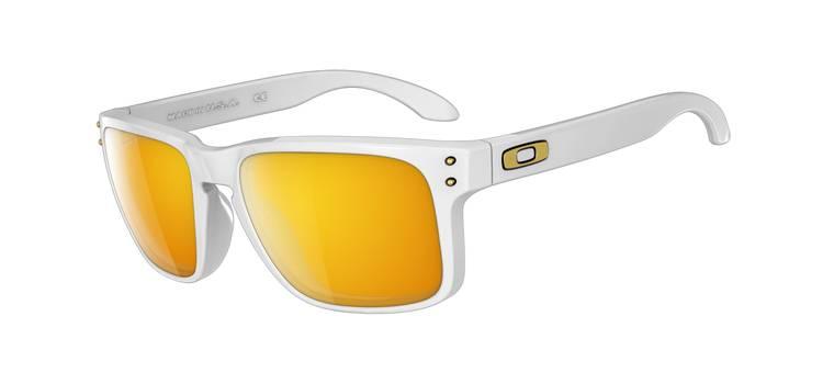 Gafas de Sol Oakley 9102 HOLBROOK 18 Blanco Brillo - 24K (Gold) Iridium