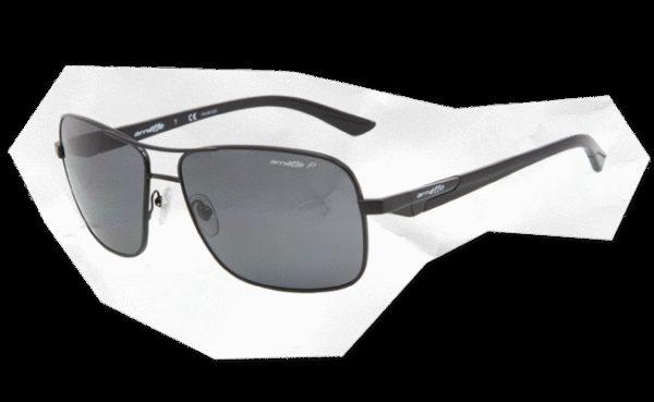 ARNETTE 3062 STAKEOUT 528 81 Negro brillo-Lente gris polarizado
