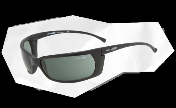 product a r arnette 4007 slide 01 negro mate lente verde.jpeg en Óptica Sobrarbe