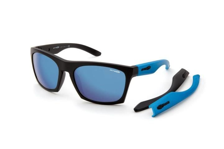 Arnette 4169 dibs 01 55 Negro mate Azul-Lente azul espejo