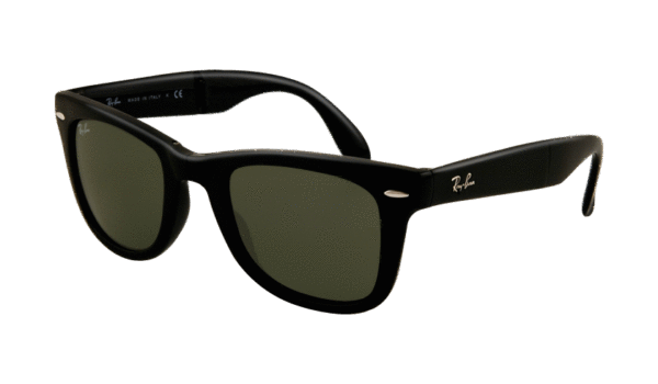 Ray-Ban 4105 Folding Wayfarer 601 5420 Negro - Lente verde