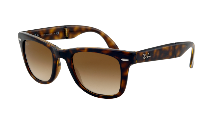 Ray-Ban 4105 Folding Wayfarer 710-51 5022 Marrón habana claro - Lente marrón gradiente