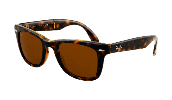 Ray-Ban 4105 Folding Wayfarer 710 5022 Marrón habana claro - Lente marrón