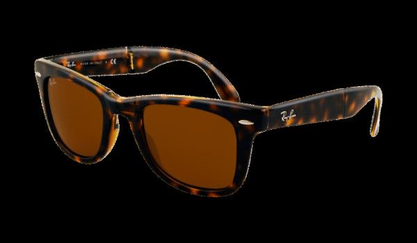 Ray-Ban 4105 Folding Wayfarer 710 57 5022 Marrón habana claro - Lente marrón polarizada
