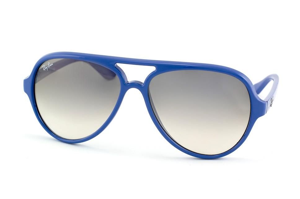 Ray-Ban 4125 Cats 801 32 Montura Azul - Lente Gris Gradiente