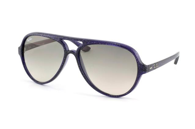 Ray-Ban 4125 Cats 806 32 Montura Azul-Violeta Glitter - Lente Gris Gradiente