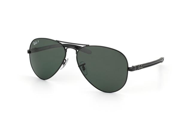 Ray-Ban 8307 002-N5 55 Montura Negro - Lente verde polarizada - Aviator Tech - ColecciónFibra de Carbono