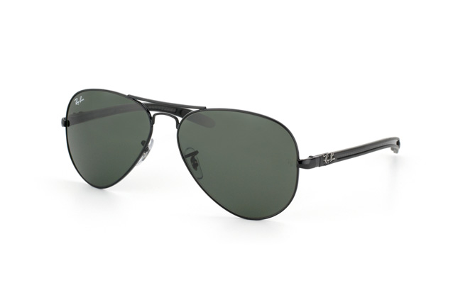 Ray-Ban 8307 002 58 Montura Negro - Lente verde - Aviator Tech - Colección Fibra de Carbono