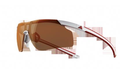 Gafas de Sol ADIDAS A186 ADIZERO TEMPO S 6052 WHITE RED - Lente LST ACTIVE SILVER