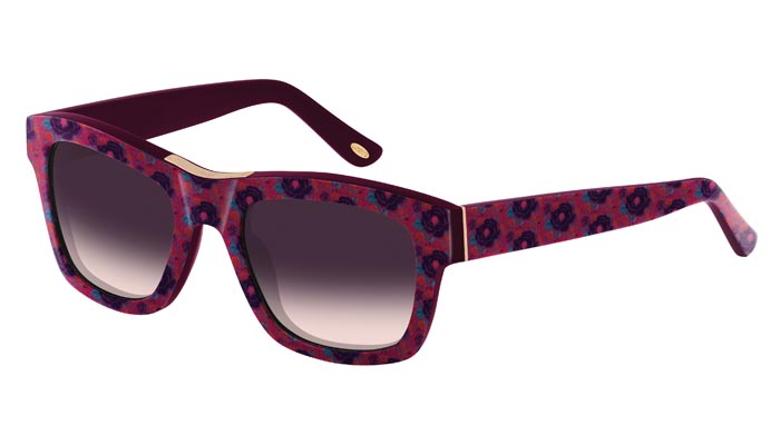 Loewe SLW769 0AFP - Montura Flores Fucsia-Violeta - Lente Morado Degradado a Rosa