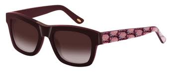 Loewe SLW769 0V07 - Montura Flores Granate-Rosa - Lente Marrón Degradado