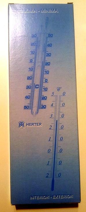 TERMOMETRO ECOLÓGICO Máxima Mínima sin Mercurio HERTER 288E 10.3014.14