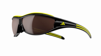 ADIDAS A126 EVIL EYE PRO L 6108 BLACK-YELLOW - Lente LST POLARIZED SILVER + LST BRIGHT (antifog)