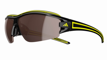 ADIDAS A167 EVIL EYE HALFRIM PRO L 6108 BLACK-YELLOW - Lente LST POLARIZED SILVER +LST BRIGHT (antifog)