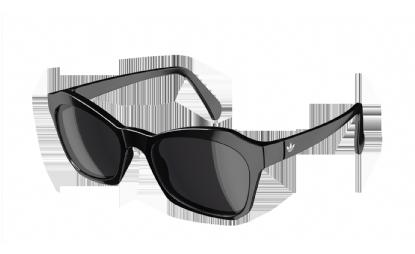 ADIDAS AH33 FORAY 6050 BLACK WHITE - Lente DARK GREY
