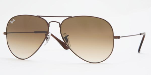 Ray-Ban RB 3025 Aviator 014 51 55 Marrón - Lente marrón degradado