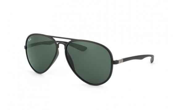 Ray-Ban RB 4180 Liteforce Tech Aviator 601S 71 - Montura Negro Mate - Lente Verde