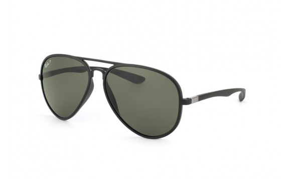Ray-Ban RB 4180 Liteforce Tech Aviator 601S 9A - Montura Negro Mate - Lente Verde Polarizada
