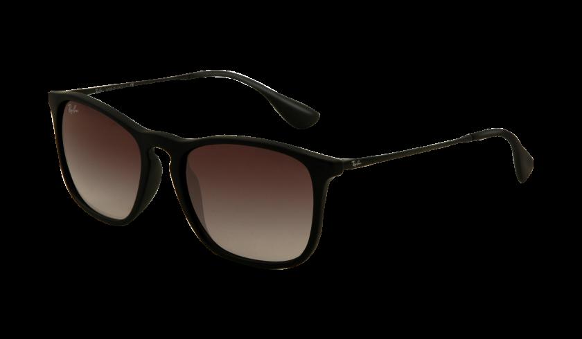Ray-ban RB4187 CHRIS 622 8G Montura Negro Transparente caucho - Lente Gris degradado