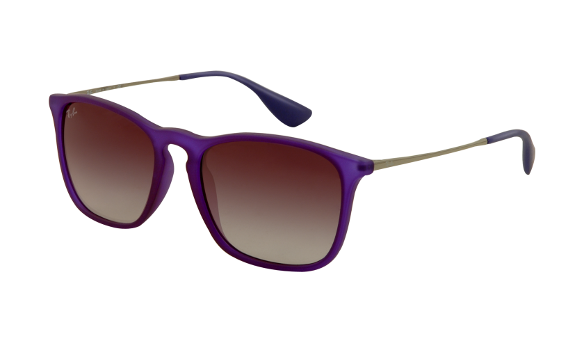 Ray-ban RB4187 CHRIS 889 8G Montura Violeta Transparente caucho - Lente Gris degradado