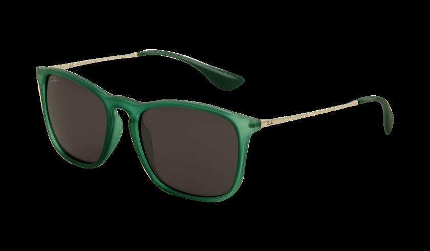 Ray-ban RB4187 CHRIS 897 87 Montura Verde Transparente caucho - Lente Gris
