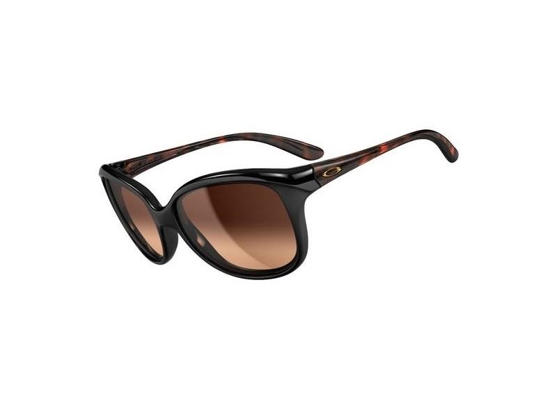 Oakley OO9160 Pampered 02 - Montura Negro Tortuga - Lente Marrón Oscuro degradado