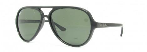 Ray-Ban RB 4125 Cats 5000 601 58 - Montura Negro - Lente Verde G15 polarizado
