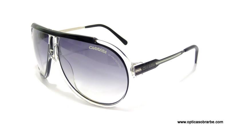 CARRERA SOL VINTAGE ENDURANCE SML 58 10 125 J09 LF Negro transparente - Lente gris degradado